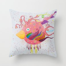 the bird-world Throw Pillow
