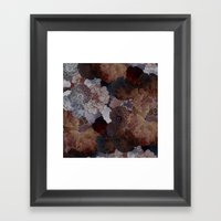 FLORAL EARTH Framed Art Print