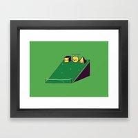 Hill race Framed Art Print