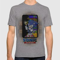 Sonic the hedgehog Mens Fitted Tee Athletic Grey SMALL