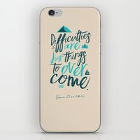 Shackleton Quote on Difficulties - Illustration iPhone & iPod Skin