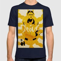 Drive Mens Fitted Tee Navy SMALL