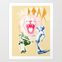 Hear Me Roar Art Print