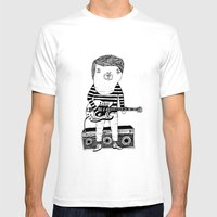 Guitar-Boy Mens Fitted Tee White SMALL