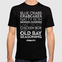 Baltimore — Delicious … Mens Fitted Tee Black SMALL