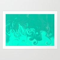 Ocean Swirls Art Print