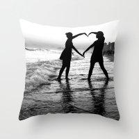 Love BW Throw Pillow