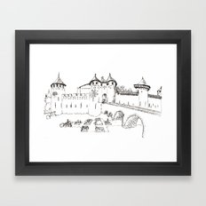 moat garden Framed Art Print