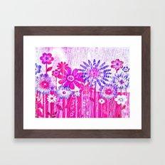 Blossoming Spring Flowers Framed Art Print