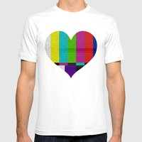 Heart TV Mens Fitted Tee White SMALL