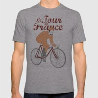 Tour De France Mens Fitted Tee Athletic Grey SMALL