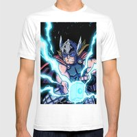 The Mighty THOR! Mens Fitted Tee White SMALL