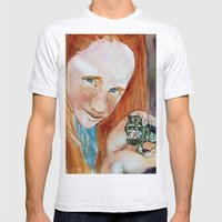 Redhead Green Frog Mens Fitted Tee Ash Grey SMALL