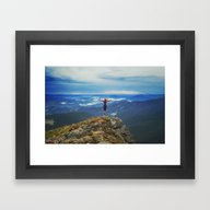 Framed Art Print featuring Young Woman  On A Stone … by Marozn