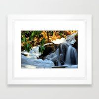 Winter's Rush Framed Art Print