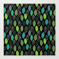 Modern Abstract Leaf Pat… Canvas Print