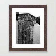 Private Property Framed Art Print