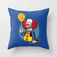 Krustywise The Clown Throw Pillow