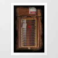 I-Dex Dexter Blood Slide… Art Print