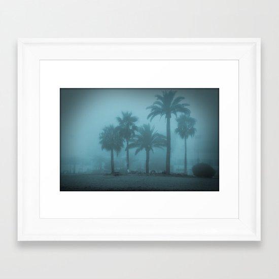 Blue memories Framed Art Print