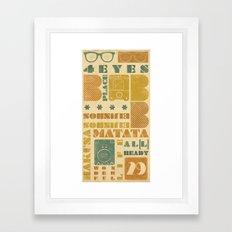 b_place Framed Art Print