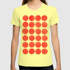 Colorplay Flamingo Womens Fitted Tee Lemon SMALL