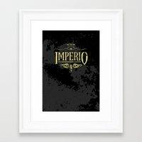 Harry Potter Curses: Imperio Framed Art Print