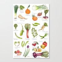 Calendar-January thru June Canvas Print
