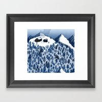 The mountains Framed Art Print