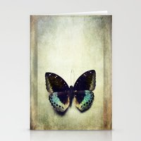 Vintage Butterfly 4 Stationery Cards