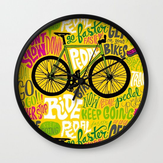 RIDE YOUR BIKES Wall Clock