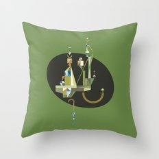 absinthe: green Throw Pillow
