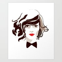 Fancy Face Art Print