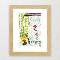 The Mission of Instant Noodles Framed Art Print