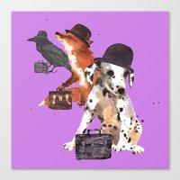 Animals, animal art, funnyanimals, animals in hats Canvas Print