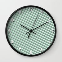 Mint Leaf Pattern Wall Clock