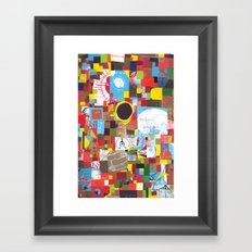 Microcosm Collage Framed Art Print