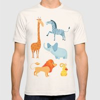 Animal Fever! Mens Fitted Tee Natural SMALL
