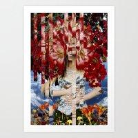 Wonderland - collage art by bedelgeuse Art Print