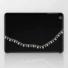 Vintage Beads on Black iPad Case