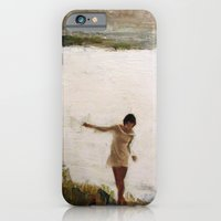 iPhone & iPod Case featuring Lake and Girl by Daniel Gonzalez