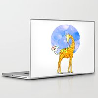giraffe Laptop & iPad Skins featuring Giraffe by gunberk