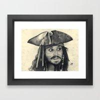 Captain Jack Sparrow ~ J… Framed Art Print