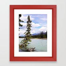 Alberta River Landscape Framed Art Print