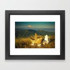 Coffee on Courtney Ridge Framed Art Print