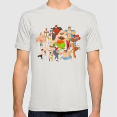 Street Fighter Mens Fitted Tee Silver SMALL