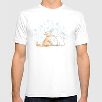 When We Kiss, I See Star… Mens Fitted Tee White SMALL
