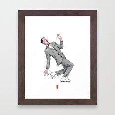 Pee Wee Herman #2 Framed Art Print