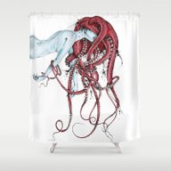 Shower Curtain featuring Septoid by TAOJB