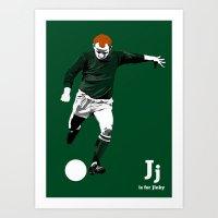 J Is For Jinky Art Print